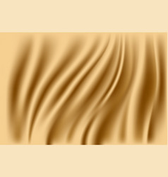 abstract fabric background gold silk fabric and vector image