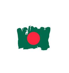 Bangladesh flag painted by hand bangladeshi art vector