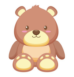 Bear toy on white background vector
