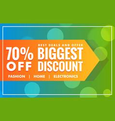 Biggest sale discount banner deisgn template vector