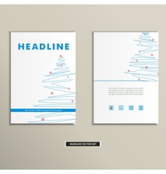 Book with a Christmas tree on the cover vector image