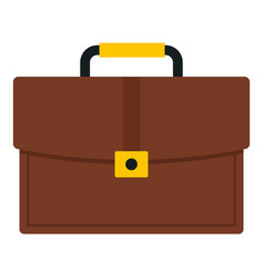 brown business briefcase icon isolated vector image