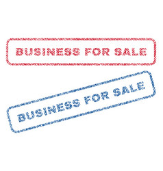 Business for sale textile stamps vector