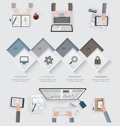 Business infographic template set vector