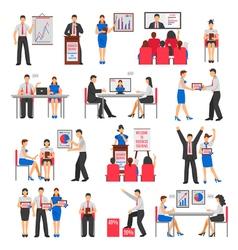 Business Training Set vector