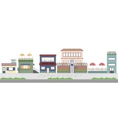 cafe street flat background vector image