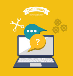 call center online computer technology vector image