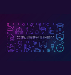 charging point colored vector image