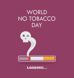 cigarette burning as cancer loading bar poster vector image