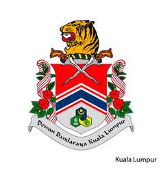 Coat arms kuala lumpur is a malaysian vector