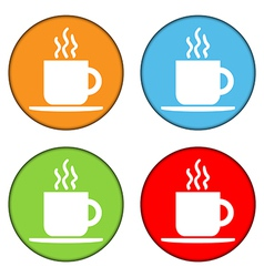 Coffee button set vector image