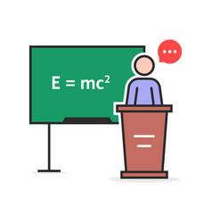 Color linear physics teacher vector