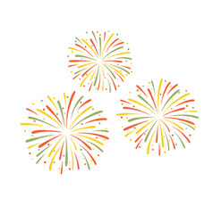 colorful fireworks isolated vector image