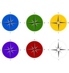 Compass set vector image