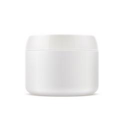 Cosmetics skin care cream box 3d mockup vector