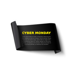 cyber monday banner vector image