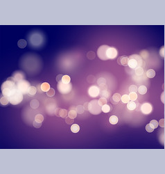 Dark purple background with blur and bokeh effect vector
