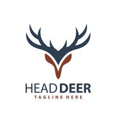Deer head modern logo vector
