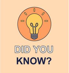 Did you know logo design vector