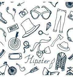 Doodle pattern hipster vector image