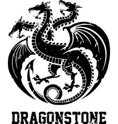 dragon hydra symbol art vector image