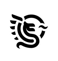 dragon logo symbol design template vector image