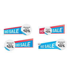 Editable blank circle label stickers for social vector