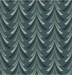 Firs seamless pattern Christmas background Twist vector image