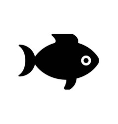 fish icon icon simple element fish symbol design vector image