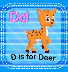 flashcard letter d is for deer vector image