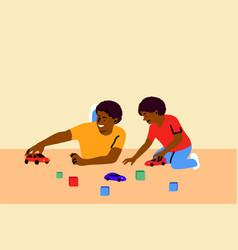 Game fatherhood childhood family recreation vector