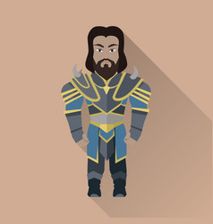 game object of knight vector image