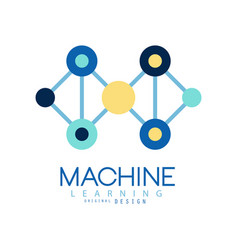 Geometric machine learning logo data mining vector