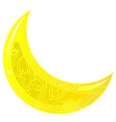 Glass yellow crescent vector