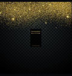gold glitter texture background confetti explosion vector image