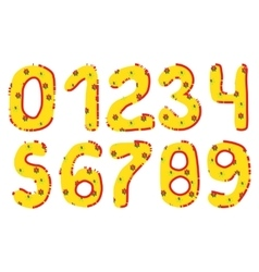 Handwritten Numbers Set vector