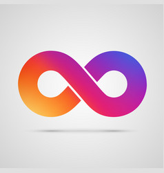 Infinity symbol with color gradient vector