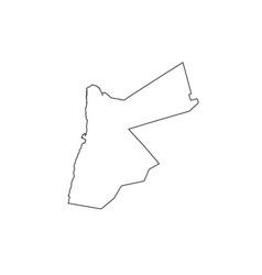 Jordan map outline country vector