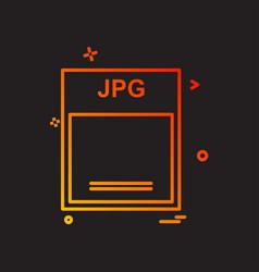 jpg icon design vector image