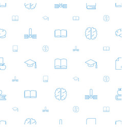 Knowledge icons pattern seamless white background vector