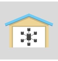 Laptop technology data center icon graphic vector