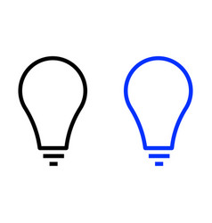 light bulb line icon vector image