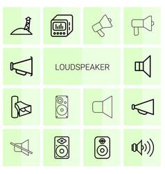 loudspeaker icons vector image