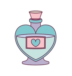 Love perfume bottle vector