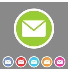 Mail post envelope icon flat web sign symbol logo vector image