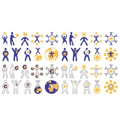 Man and sun and Earth vector