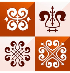 Medieval emblem ornament vector