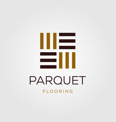 Minimalist parquet flooring vinyl hardwood vector