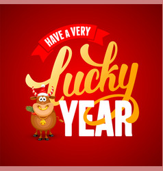 new year wishes greeting card design vector image