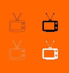 Old tv icon vector